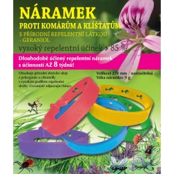 Repelentní náramek proti komárům a klíšťatům