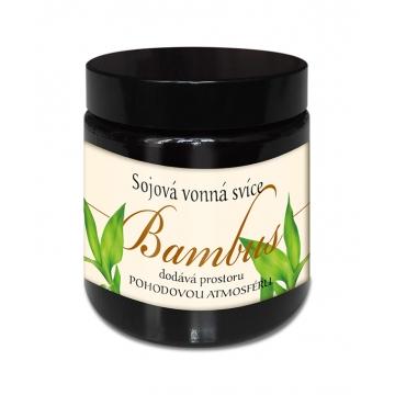 Sojová vonná svíčka BAMBUS